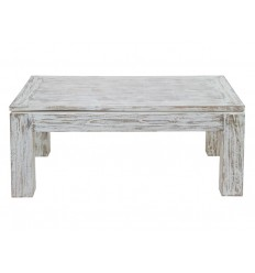 Mesa de centro blanco decapado elevable - NATURE ANTIQUE