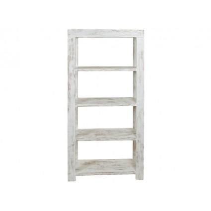 Estantería librería blanca decapada cuatro estantes - NATURE ANTIQUE