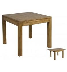 Mesa extensible estilo colonial de madera acabado natural - IOS