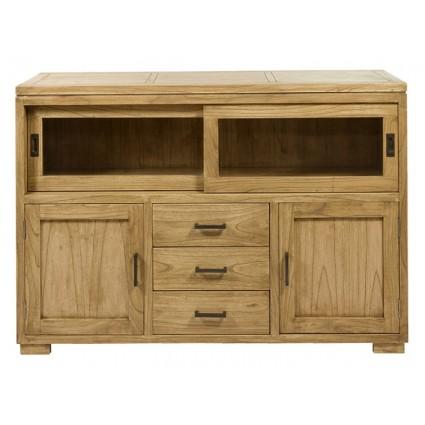 Aparador de estilo colonial madera acabado natural - IOS