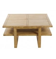 Mesa de centro de estilo colonial de madera con balda - IOS