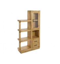 Estantería librería de estilo colonial de madera acabado natural - IOS