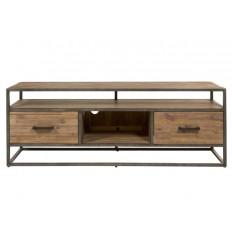 Mueble televisión estilo industrial con estantes y cajones - PARQUET