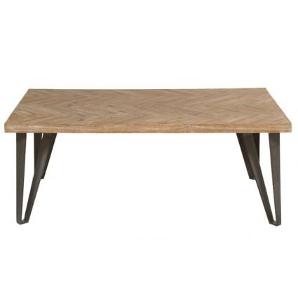 Mesa de centro estilo industrial patas de hierro - PARQUET