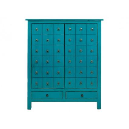 Armario estilo oriental de color azul - KAGU