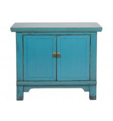 Consola estilo oriental dos puertas azul - KAGU