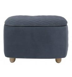 Taburete rectangular de tela suave azul caja - SAM