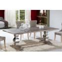 Mesa de comedor madera y acero pilastras - ANTICA