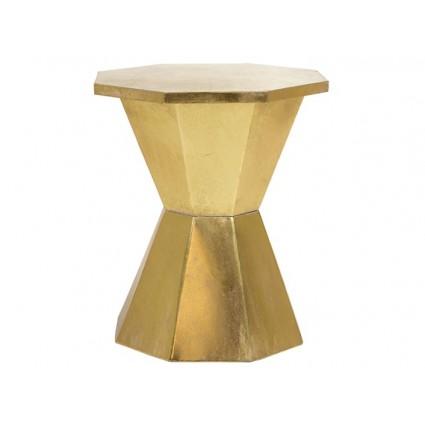 Mesita auxiliar dorada forma octogonal - INFINITY