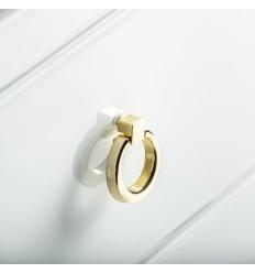 Cómoda blanca y dorada tres cajones - WHITE FUSSION