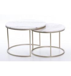 Set de dos mesas redondas mármol - RYAN