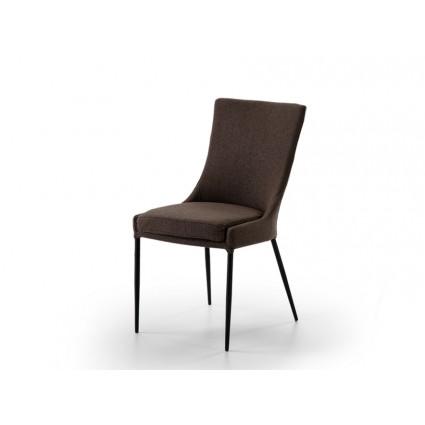 Silla tapizada marrón oscuro - NOA