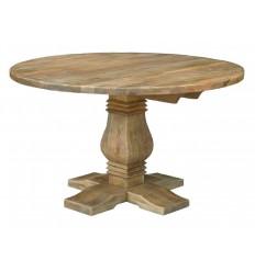 Mesa de comedor redonda de estilo rústico Godin de Giner y Colomer