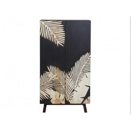 Consola retro diseño palmeras color negro - PALM