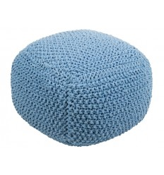 Puff trenzado azul cuadrado - LENIN