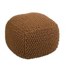 Puff trenzado marrón cuadrado - LENIN