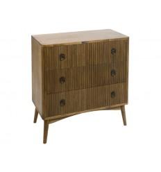 Cómoda de estilo nórdico color marrón tres cajones - FENG