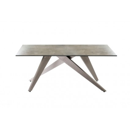Mesa de comedor de metal gris piedra - KIOS