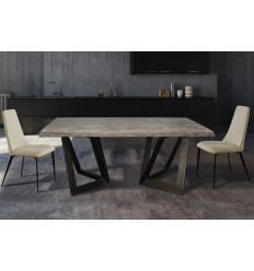 Mesa de comedor estilo industrial madera y hierro - OXLEY
