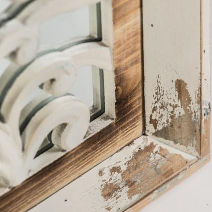 Espejo vintage madera blanco de Burkina Home - ALBAICIN