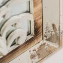 Espejo vintage madera blanco de Burkina Home -CALCUTA