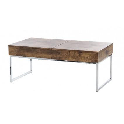Mesa de centro de madera estilo colonial - CANCÚN