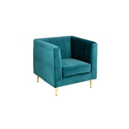 Sillón de tela suave azul - ART