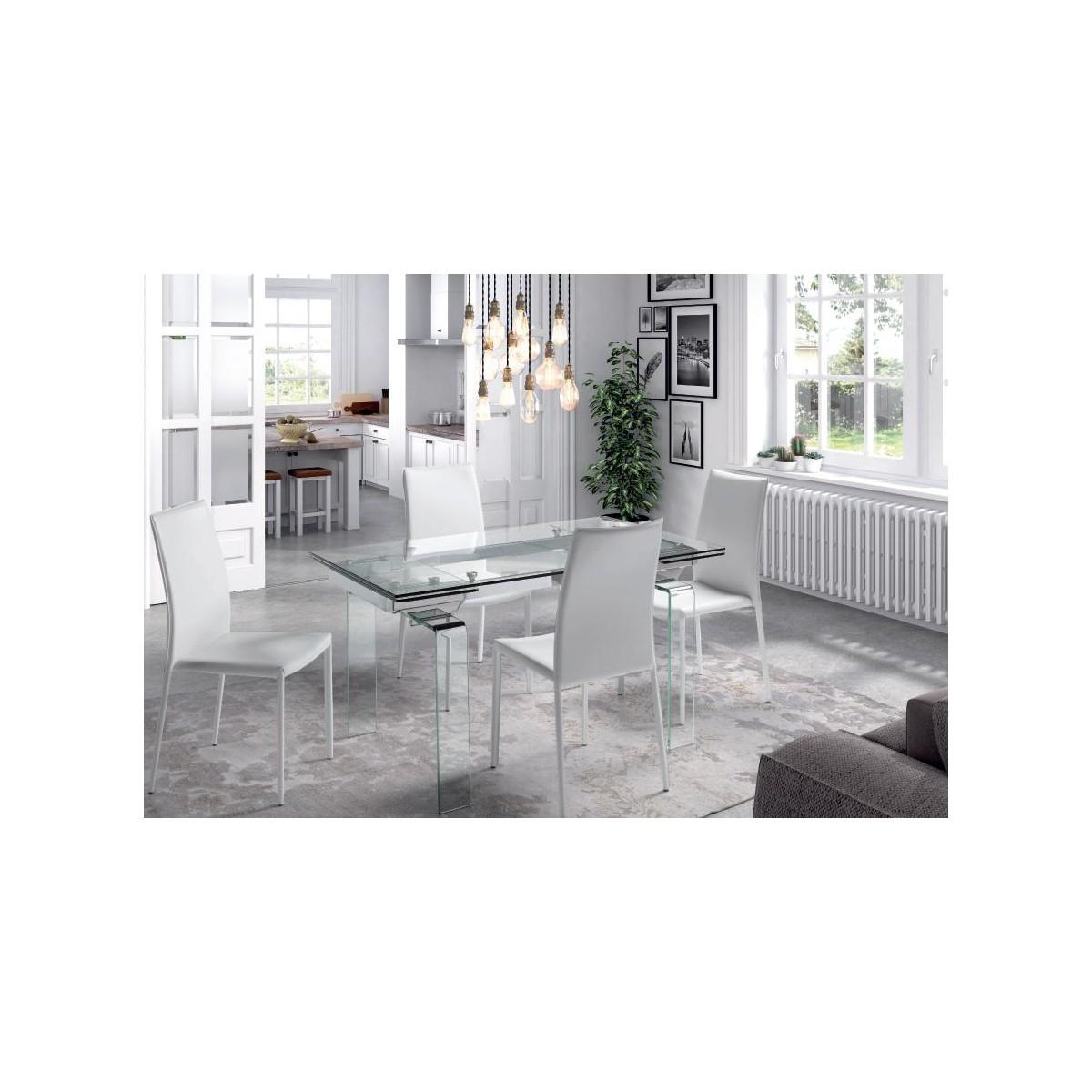Mesa de comedor extensible de camino a casa urban cristal for Camino a casa muebles