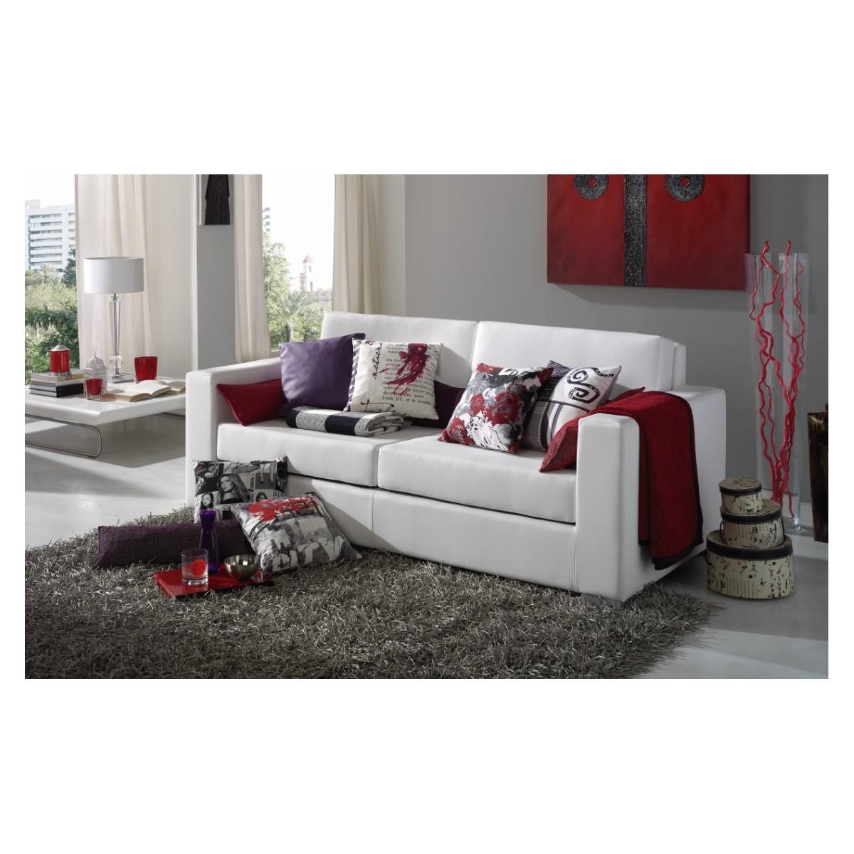 Sof modelo 251 de 3 plazas de polipiel - Sofa blanco polipiel ...