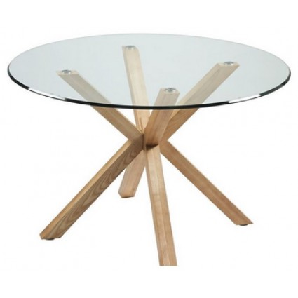 De la mesa de comedor redonda con patas madera de fresno - Mesa comedor redonda madera ...