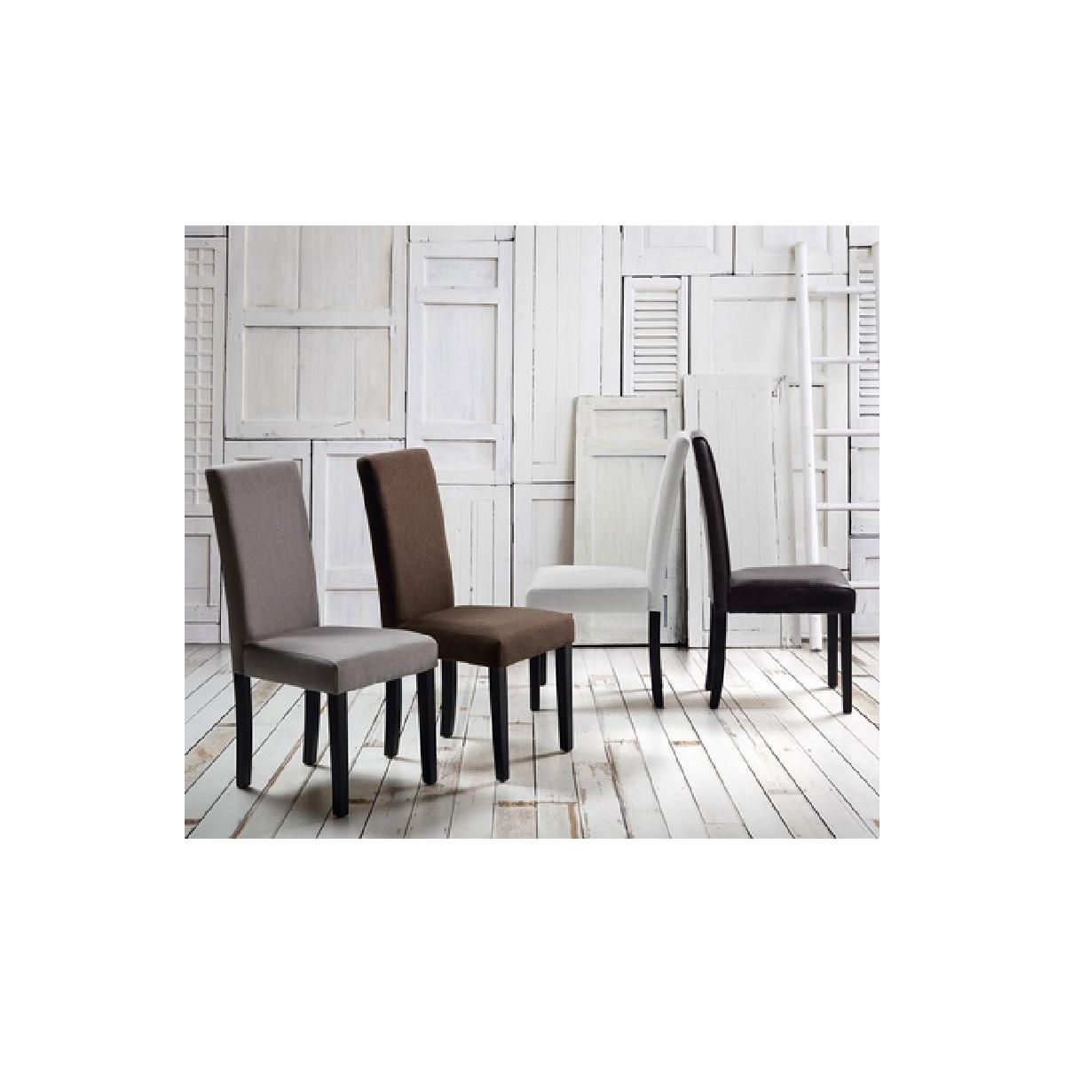 Silla moderna polipiel blanca de camino a casa cozy for Camino a casa muebles